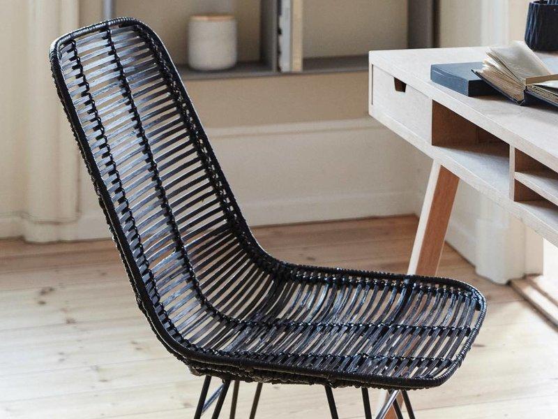 Hubsch Studio svart rotting stol