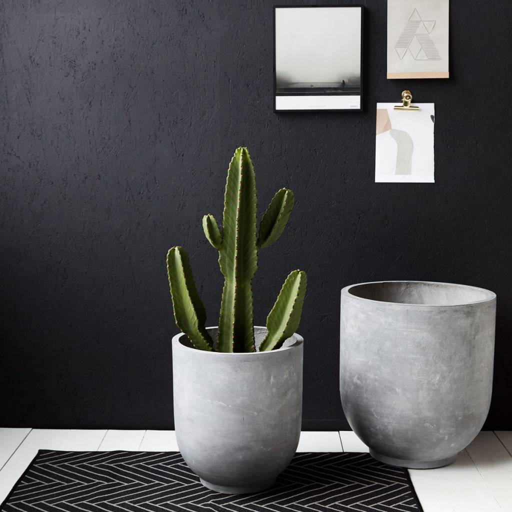 Herlig House Doctor Gard flowerpot set concrete fiberclay - LIVING AND CO. YA-81
