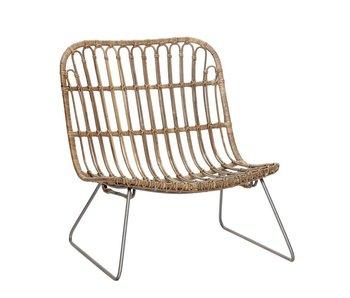 Hubsch Rattan lounge chair natural