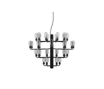 Normann Copenhagen AMP Lysekrone Stor taklampe svart