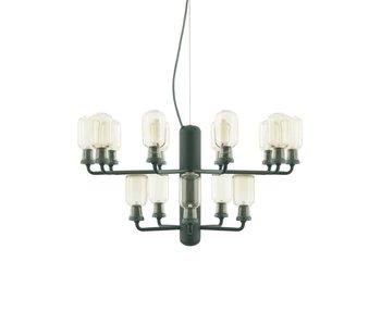 Normann Copenhagen AMP Chandelier liten hängande lampa grön