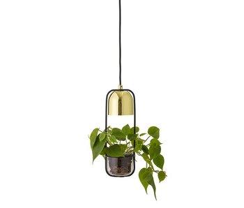 Bloomingville LED hängande ljus guld erat glas