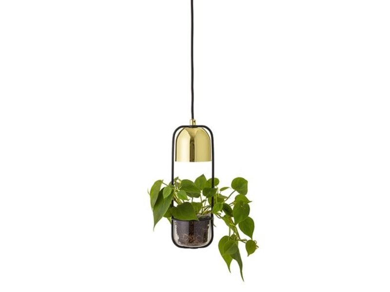 Bloomingville LED vedhæng lys guld færdig glas