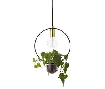 Bloomingville Hanglamp gold finish glas