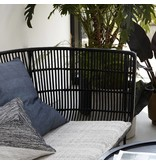 House Doctor Coon sofa rotan bank zwart
