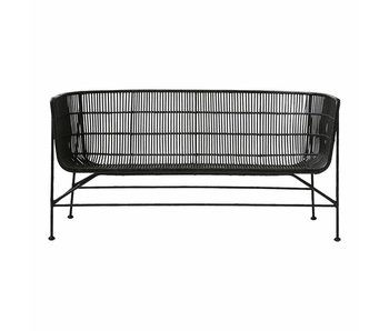 House Doctor Coon rattan sofa sort
