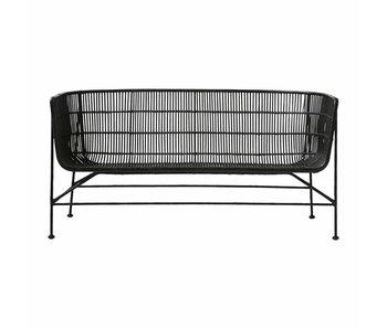 House Doctor Coon sofa de rotin noir