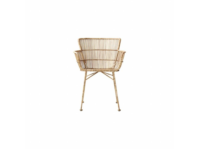 House Doctor Coon natural rattan chair - LIVING AND CO.