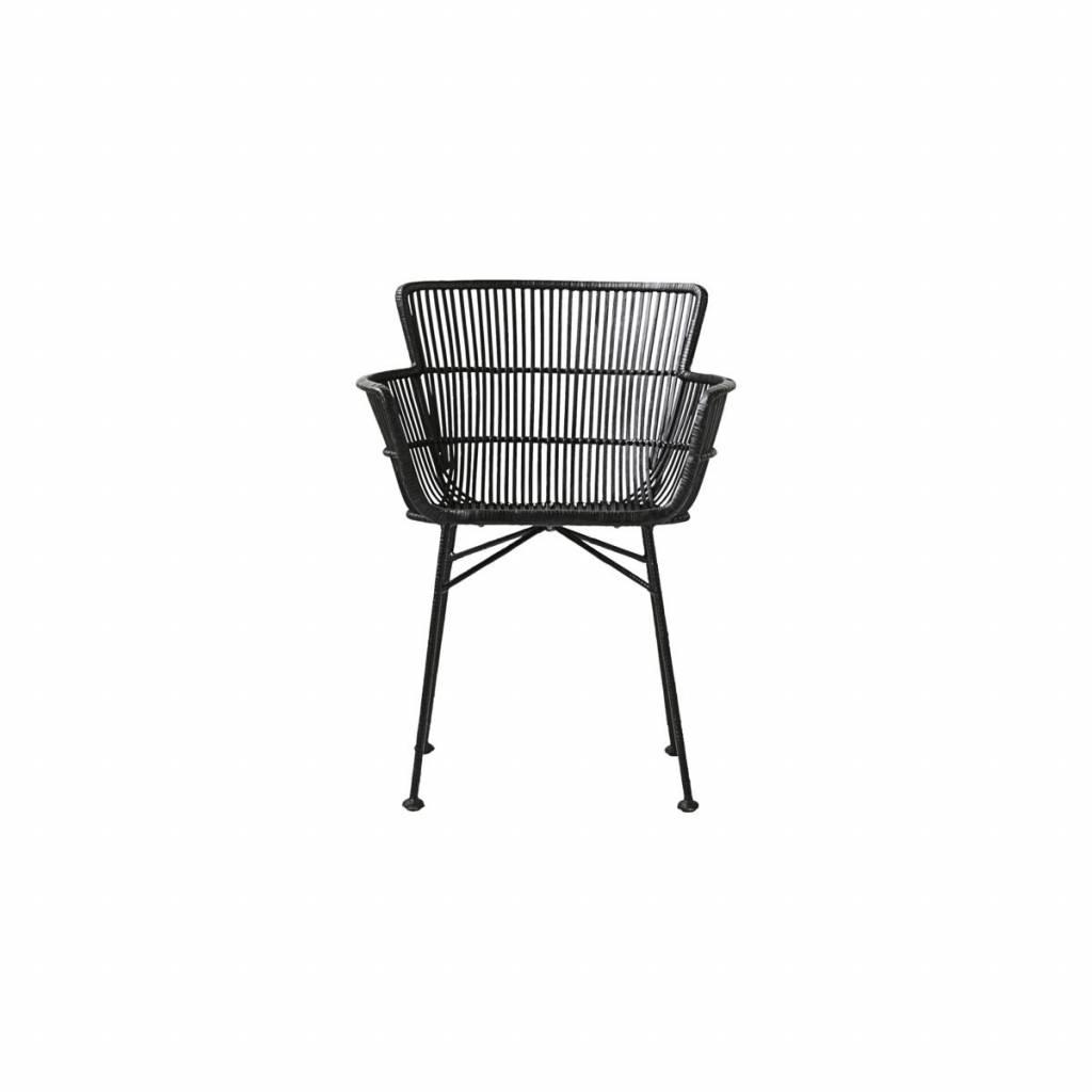 House Doctor Coon rattan armchair black
