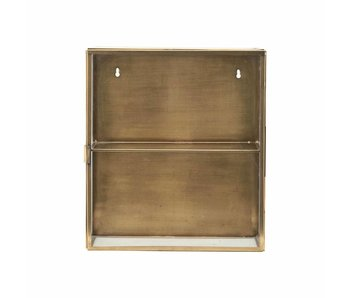 House Doctor Cabinet display brass glass