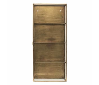 House Doctor Cabinet display brass with glass