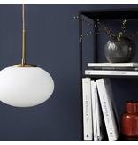 House Doctor latón lámpara Opal con el casquillo de vidrio blanco