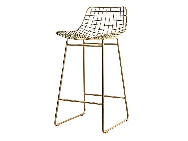 HK Living Metal wire barstool brass LIVING AND CO.