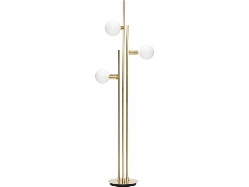 Hubsch Gulvlampe med lyskilde messing 78x28xh150cm