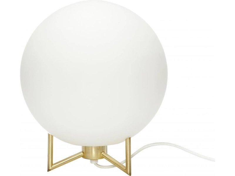 Hubsch Tafellamp messing ø26xh30cm