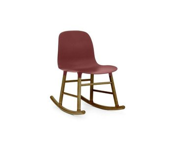 Normann Copenhagen Form Rocking Chair walnoot rood