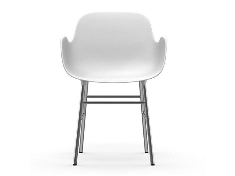 Normann Copenhagen Form Armchair stoel chrome wit