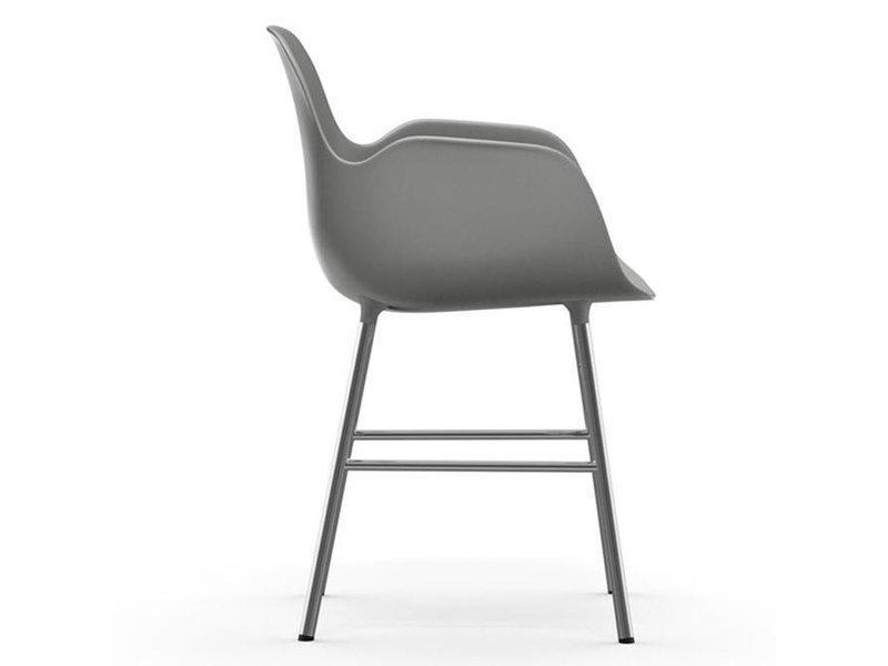 Normann Copenhagen Form Armchair stoel chrome grijs