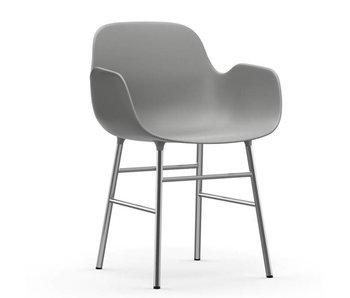 Normann Copenhagen Form Armchair chair chrome grey