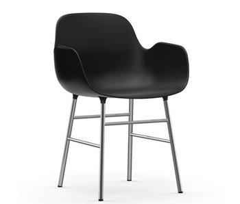 Normann Copenhagen Form Lænestol stol krom sort