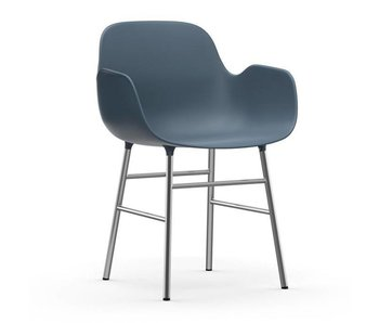 Normann Copenhagen Forma Sillón silla azul cromo
