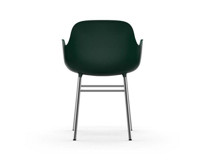 Normann Copenhagen Form Armchair stoel chrome groen