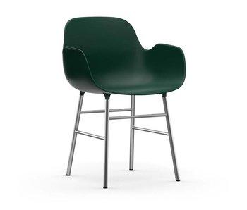 Normann Copenhagen Form Sessel Stuhl Chromgrün
