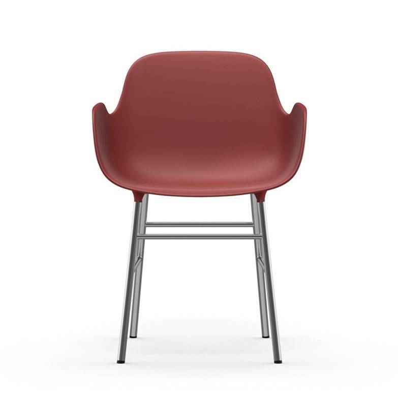 Normann CPH Form Armchair chrome red LIVING AND CO.