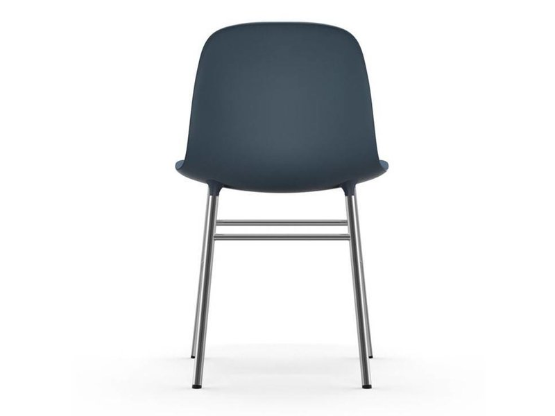 Normann Copenhagen Form Chair stoel chrome blauw