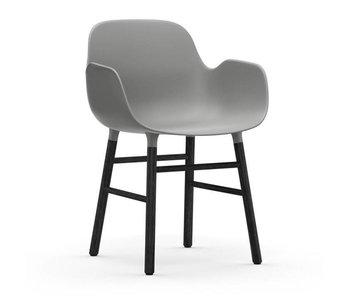 Normann Copenhagen Form Lænestol sort grå