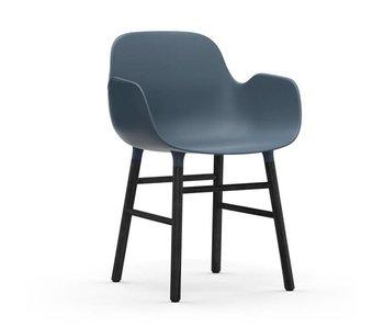Normann Copenhagen Forme Fauteuil bleu noir