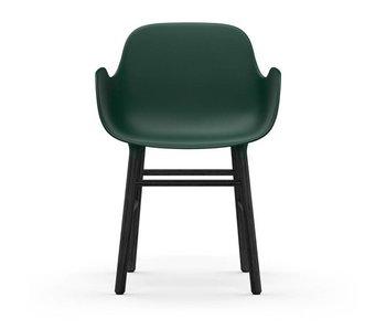 Normann Copenhagen Form Lænestol sæde sort grøn