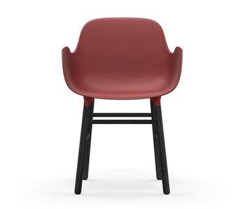 Normann Copenhagen Fauteuil forme siège noir rouge