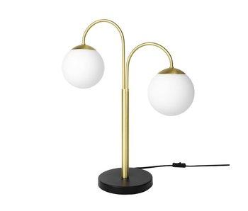 Broste Copenhagen Caspa dobbel messing bordlampe