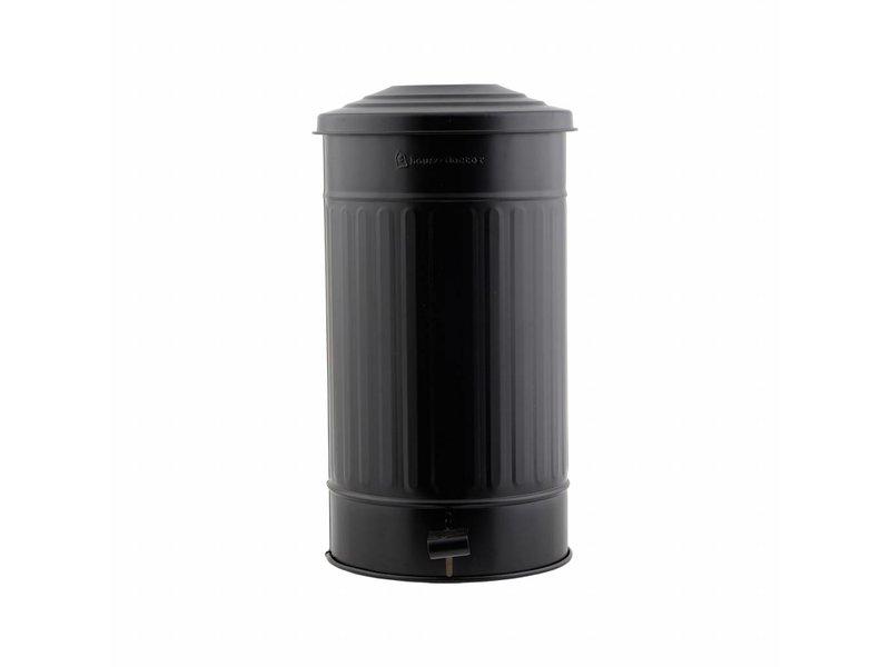 House Doctor Prullenbak mat zwart ø25,5x48cm