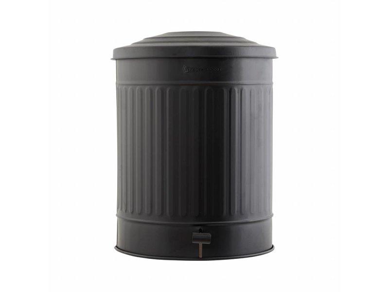 House Doctor Trash matt black ø37x48cm