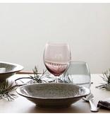 House Doctor Ball wijnglas paars 17cm