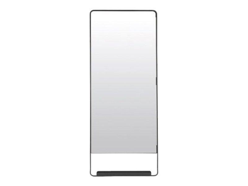 House Doctor Chic svart spegel med hylla