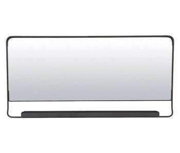 House Doctor Espejo negro elegante con el estante
