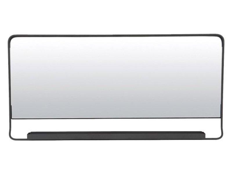 House Doctor Chic spiegel met plank zwart
