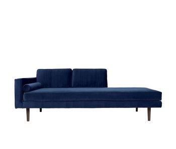Broste Copenhagen Chaise Lounge bänk blå