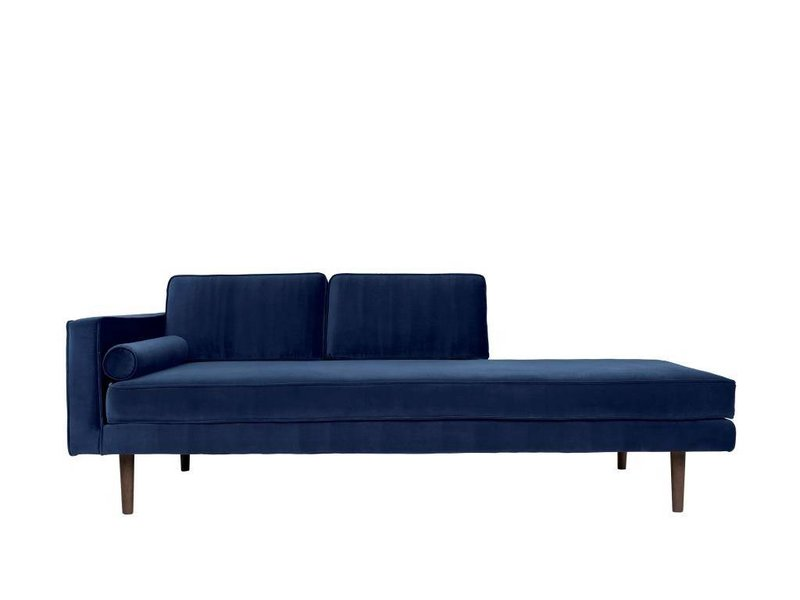Broste Copenhagen Chaise Lounge bank blauw W88XL200XH74CM