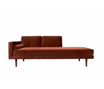 Broste Copenhagen Chaise Lounge bänk caramel brun