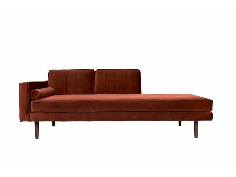 Broste Copenhagen Chaise Lounge bank caramel bruin W88XL200XH74CM