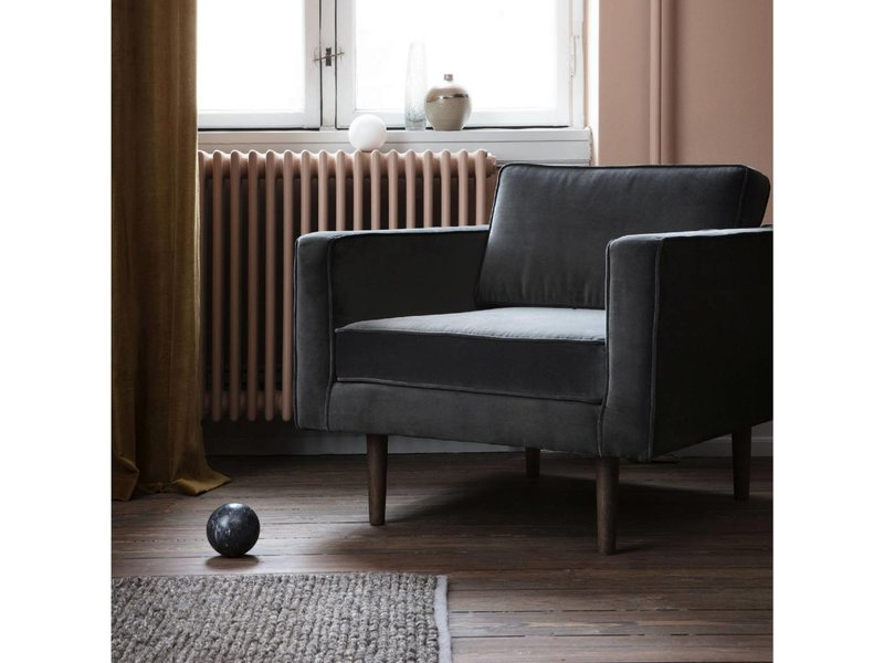 Broste Copenhagen Vind lænestol grå W88XL84XH74CM