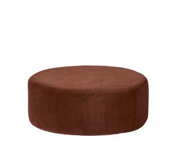 Broste Copenhagen Vind puff karamell brun