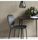 House Doctor Komma sits metalliskt grå 55,5x51x83cm