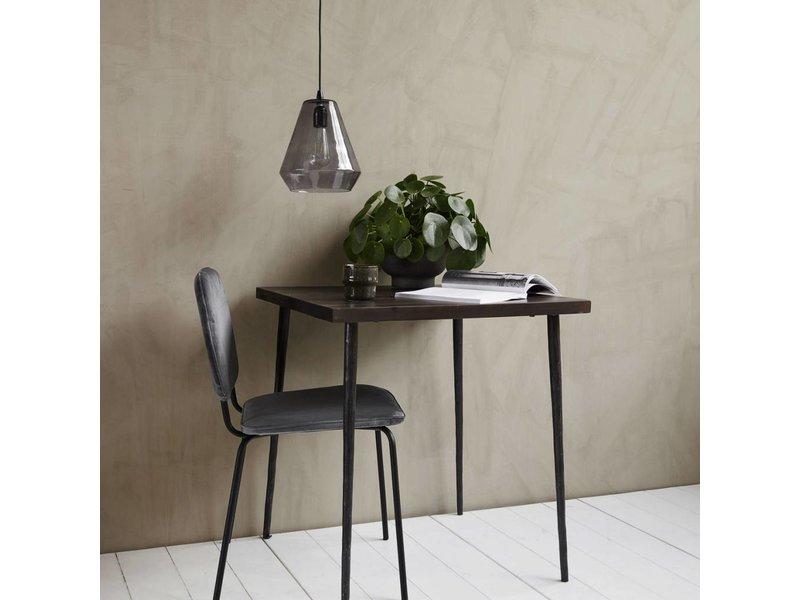 House Doctor Tänkt svart trä bord 70x70x76cm
