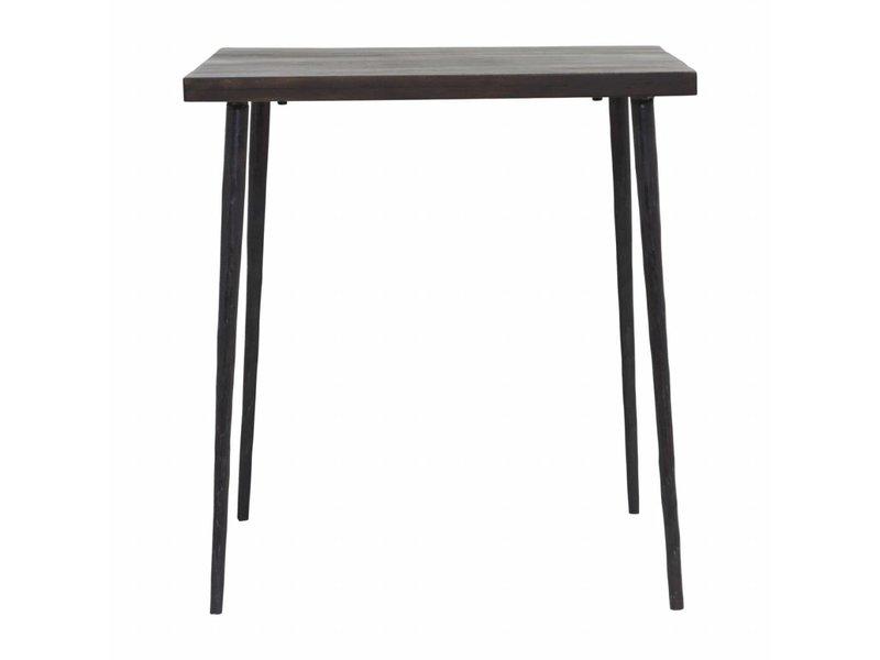 House Doctor Slated tafel hout zwart 70x70x76cm