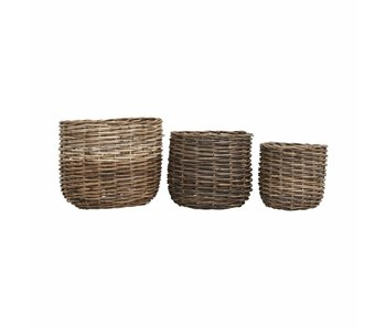 House Doctor Braid baskets set of rattan